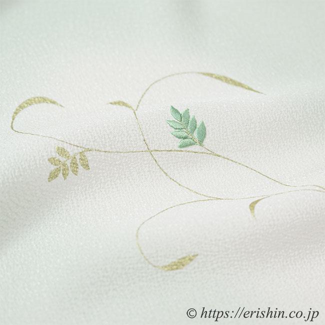 帯揚げ(金更紗/淡青磁色・日本の絹)