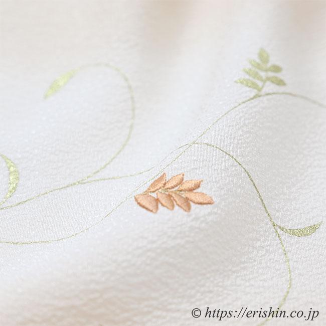 帯揚げ(金更紗/灰梅色・日本の絹)