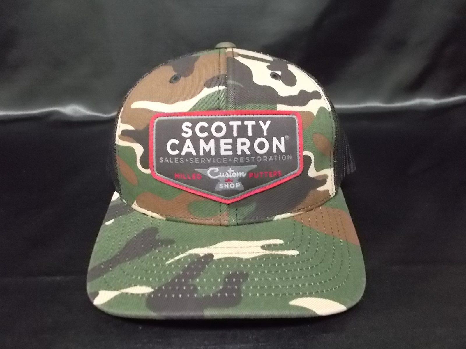 Scotty Cameron Custom Shop Patch  SnapBack CAP Camo  スコッティキャメロン カスタムショップ スナップバック カモフラージュ メッシュキャップ