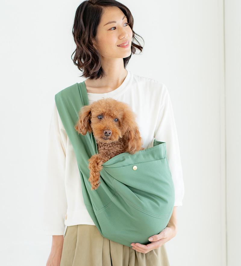 ドッグスリング(犬用抱っこ紐)スモーキーミント