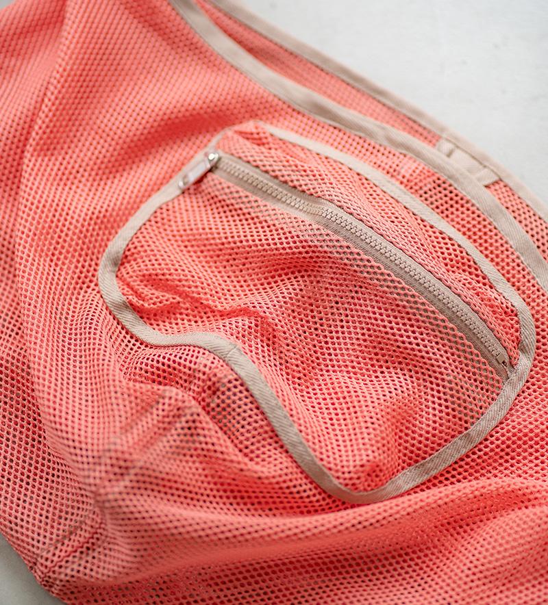 《夏限定》メッシュドッグスリング シンプル コーラルピンク