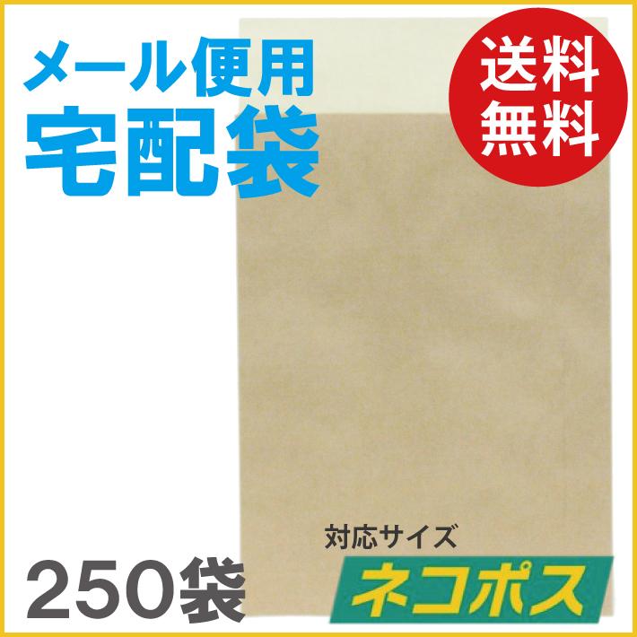 【送料無料】メール便用宅配袋 ネコポス対応 250袋 1袋当り 18.3円/税込 20.2円