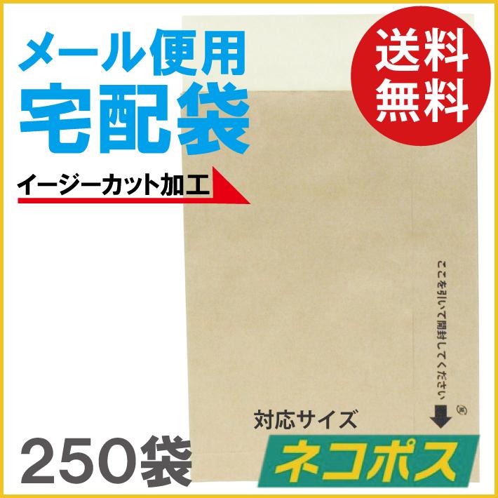 (送料無料)メール便用宅配袋 ネコポス対応(イージーカット加工)250袋  1袋当り 21.6円 (税込 23.7円)