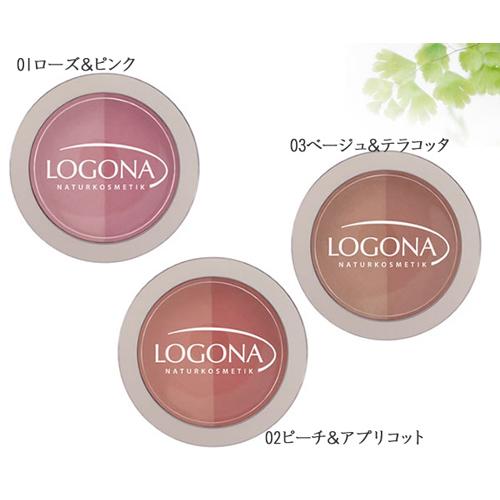 ロゴナ チークカラー<デュオ>01 ローズ&ピンク