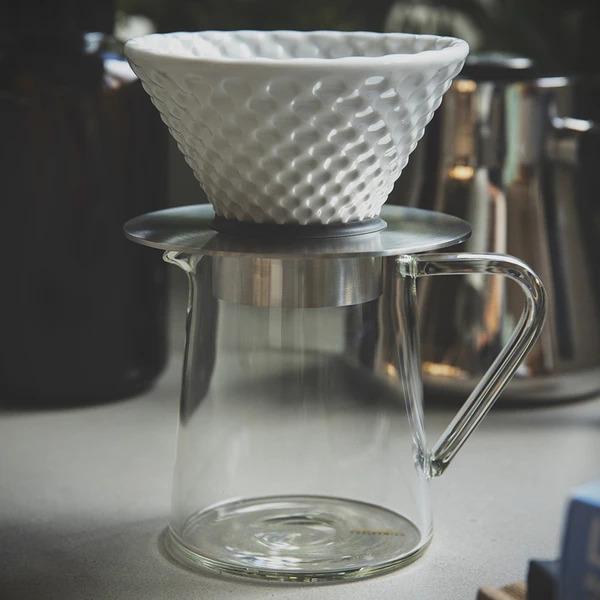 Coffee Dripper+Dripper Stand +Tall Glass Jug(500ml)
