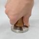 CAFELAT TAMPER WALNUT WOOD 58mm SS FLAT