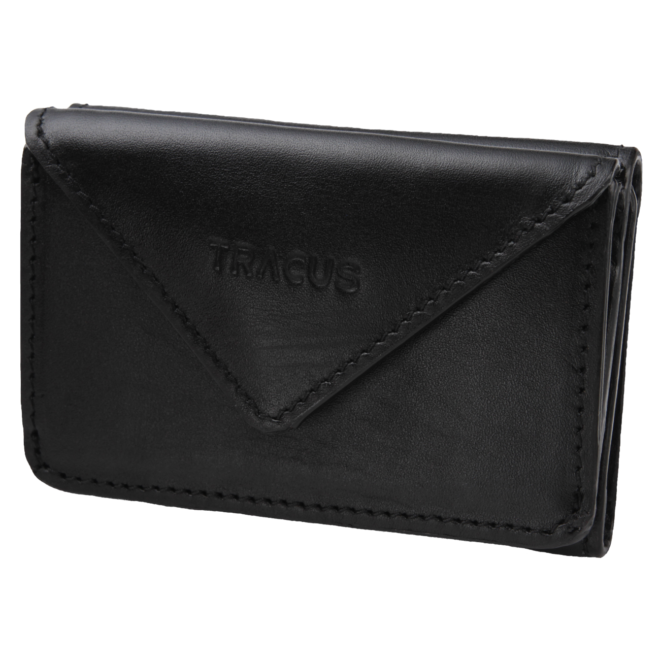 【TRACUS(トラッカス)】本革 三角三つ折り財布 ミニ財布 レディース メンズ