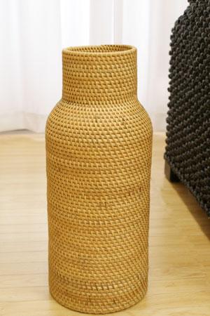 ラタン フラワーベース A ナチュラル (50cm)