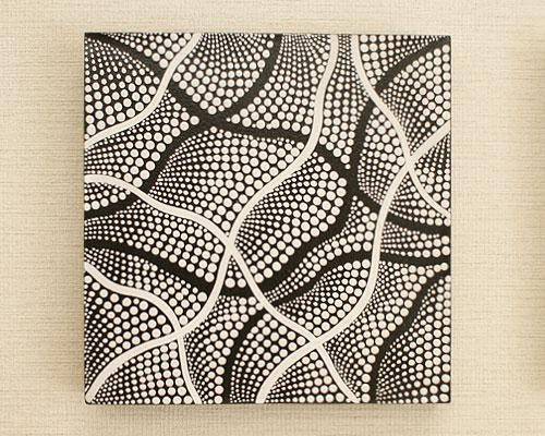 バリ絵画 ドットアート30×30 Obk