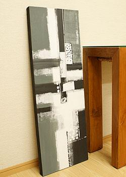 バリ絵画 モダンアート 100×35 20
