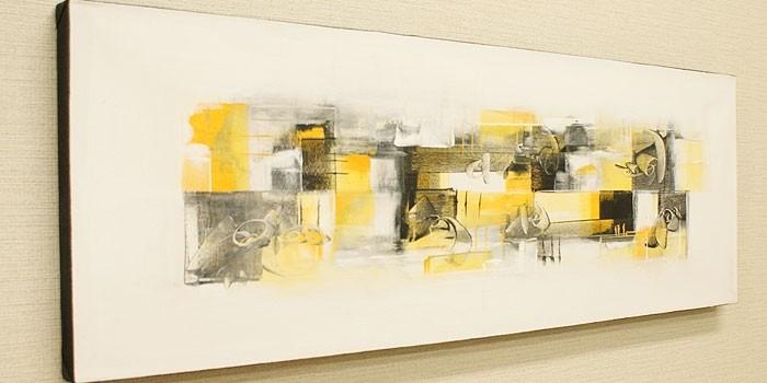 バリ絵画 モダンアート 100×35 22
