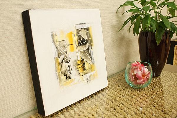 バリ絵画 モダンアート 30×30 22