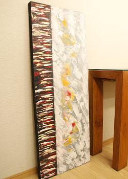 バリ絵画 モダンアート 120×45 31
