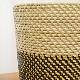 シンセティックラタン 鉢カバー Lサイズ グレー/ブラック