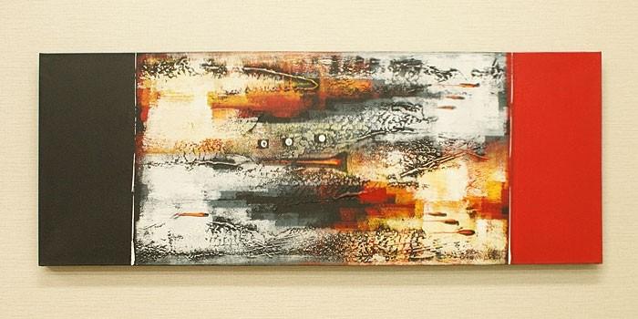 バリ絵画 モダンアート 120×45 14