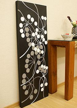 バリ絵画 ドットアート 120×45 Vbk