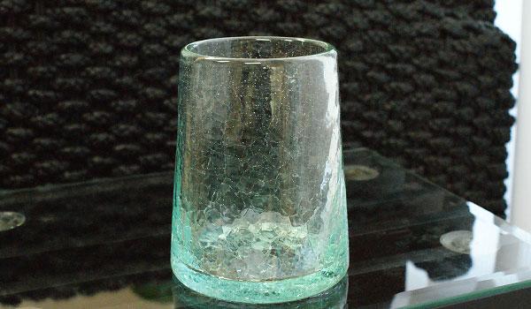 クラック ガラス フラワーベース B