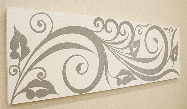 バリ絵画 ドットアート 140×45 C モノトーン