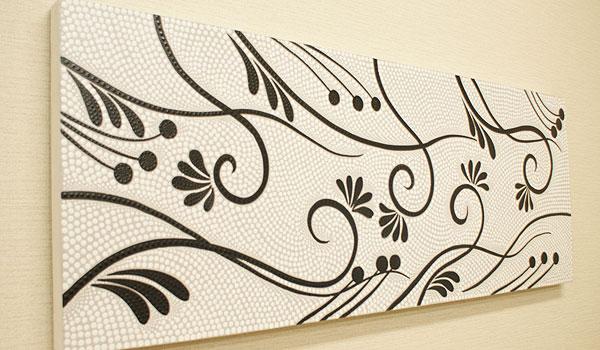バリ絵画 ドットアート 120×45 S