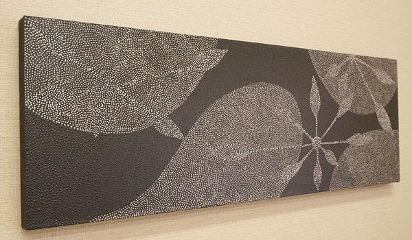 バリ絵画 ドットアート 100×35 F