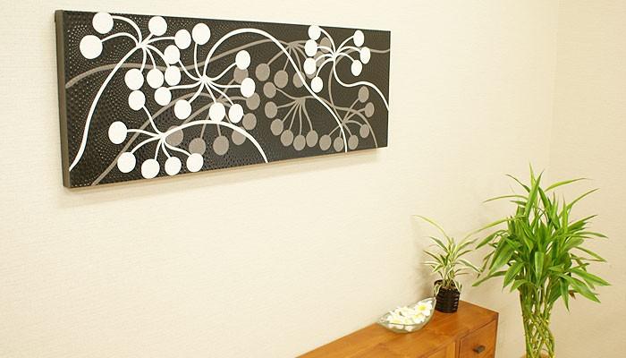 バリ絵画 ドットアート 100×35 Vbk