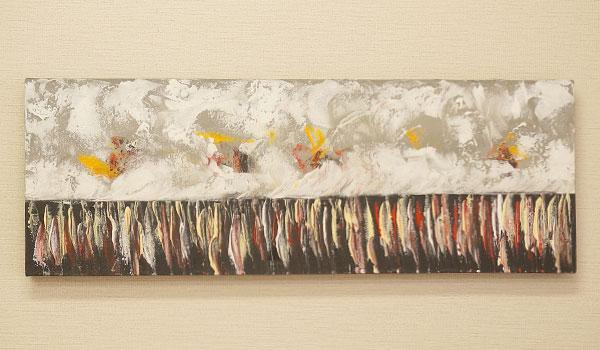 バリ絵画 モダンアート 100×35 31