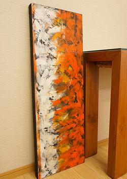バリ絵画 モダンアート 100×35 32