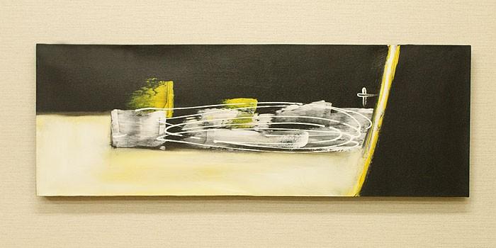 バリ絵画 モダンアート 100×35 02