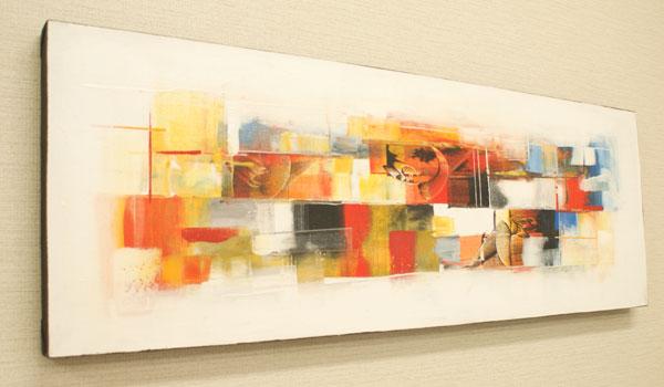 バリ絵画 モダンアート 100×35 29