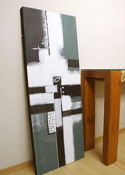 バリ絵画 モダンアート 120×45 20