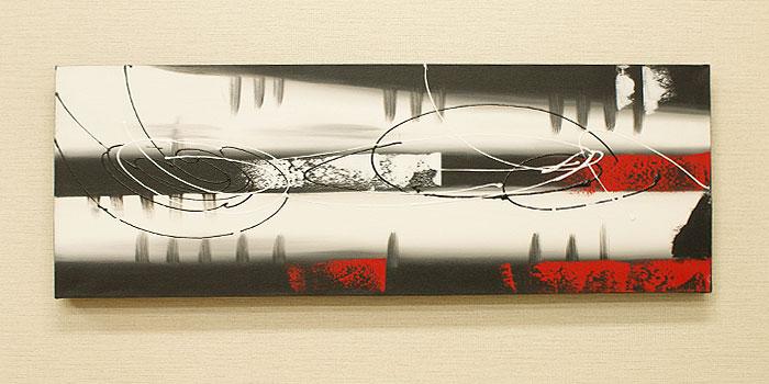 バリ絵画 モダンアート 100×35 18