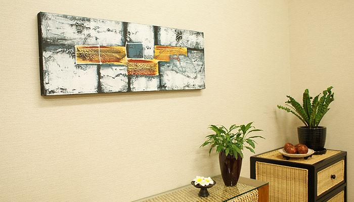 バリ絵画 モダンアート 100×35 05
