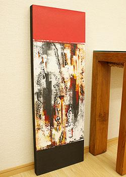 バリ絵画 モダンアート 100×35 14