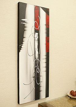 バリ絵画 モダンアート 120×45 18