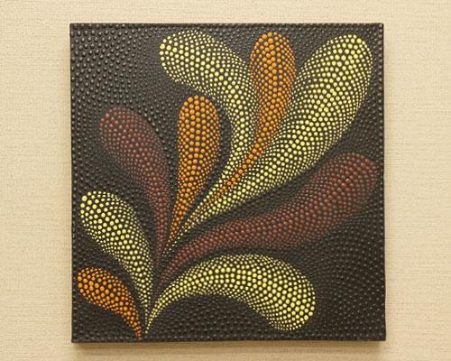 バリ絵画 ドットアート 40×40 Rd03