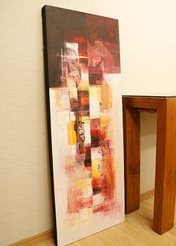 バリ絵画 モダンアート 120×45 23