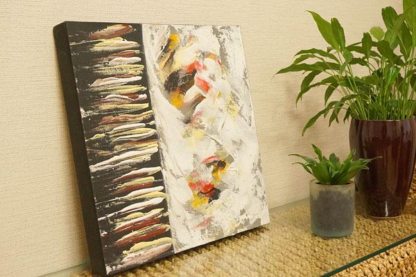 バリ絵画 モダンアート 40×40 31