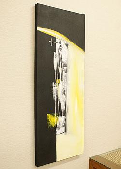 バリ絵画 モダンアート 120×45 02