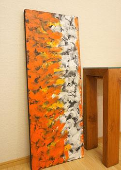 バリ絵画 モダンアート 120×45 32