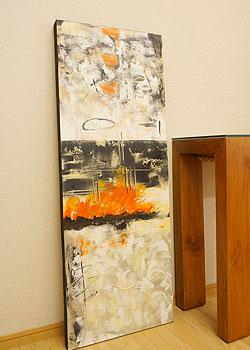 バリ絵画 モダンアート 120×45 36