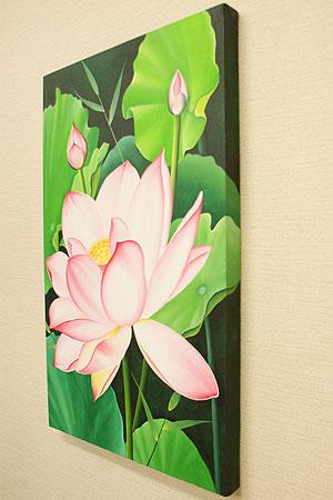 バリ絵画 ロータス B 50×80