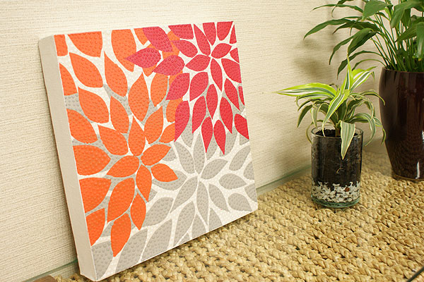 バリ絵画 ドットアート 30×30 Rd02