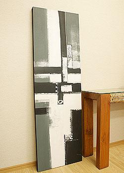 バリ絵画 モダンアート 160×50 20