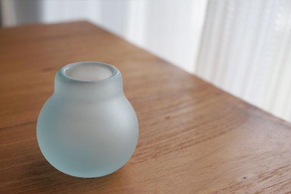 バリガラス ミニ フラワーベース B フロスト