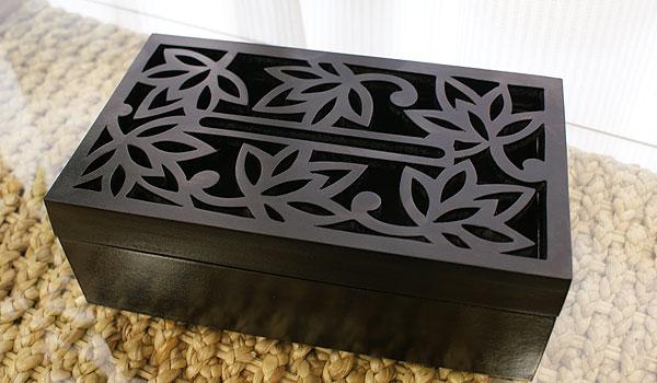 木製 ティッシュケース ロータス
