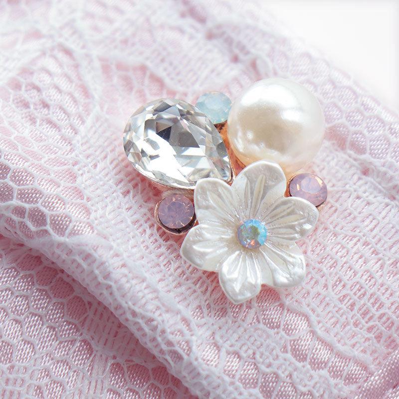 マスク 日本製 内側は今治産 タオル 洗える エレガント ビジュー レディース 大人 M L サイズ おしゃれ かわいい ワイヤー入 //メール便もOK