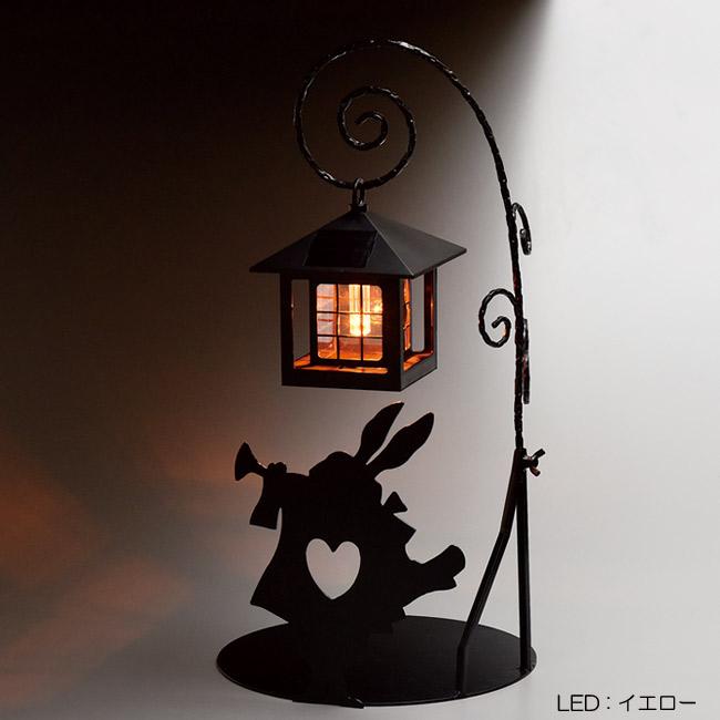 ソーラーライト 屋外 照明 ガーデンライト LED 不思議の国のアリス シルエットソーラー (ラッパうさぎ) 組立式 光センサー付 庭 照明器具 おしゃれ