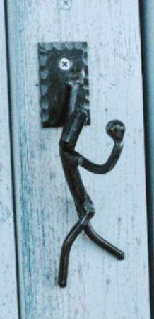 壁掛けフック アイアン壁飾り アイアンクラフト吊金具飾りフック 人型B ガーデンブラケット ハンドメイド
