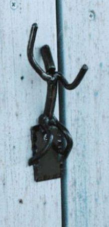 壁掛けフック アイアン壁飾り アイアンクラフト吊金具飾りフック 人型C ガーデンブラケット ハンドメイド