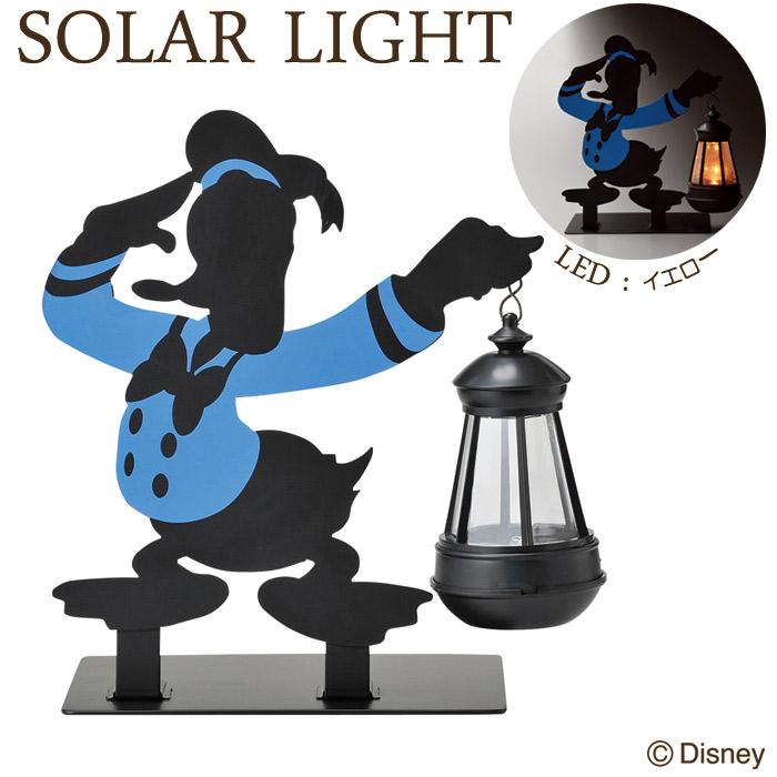 ソーラーライト LED ガーデンライト 屋外照明 ディズニー シルエットソーラーライト ドナルド 光センサー付き 組立式 外灯 照明器具 かわいい